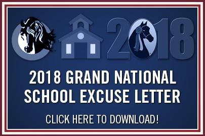 Grand National School Letter
