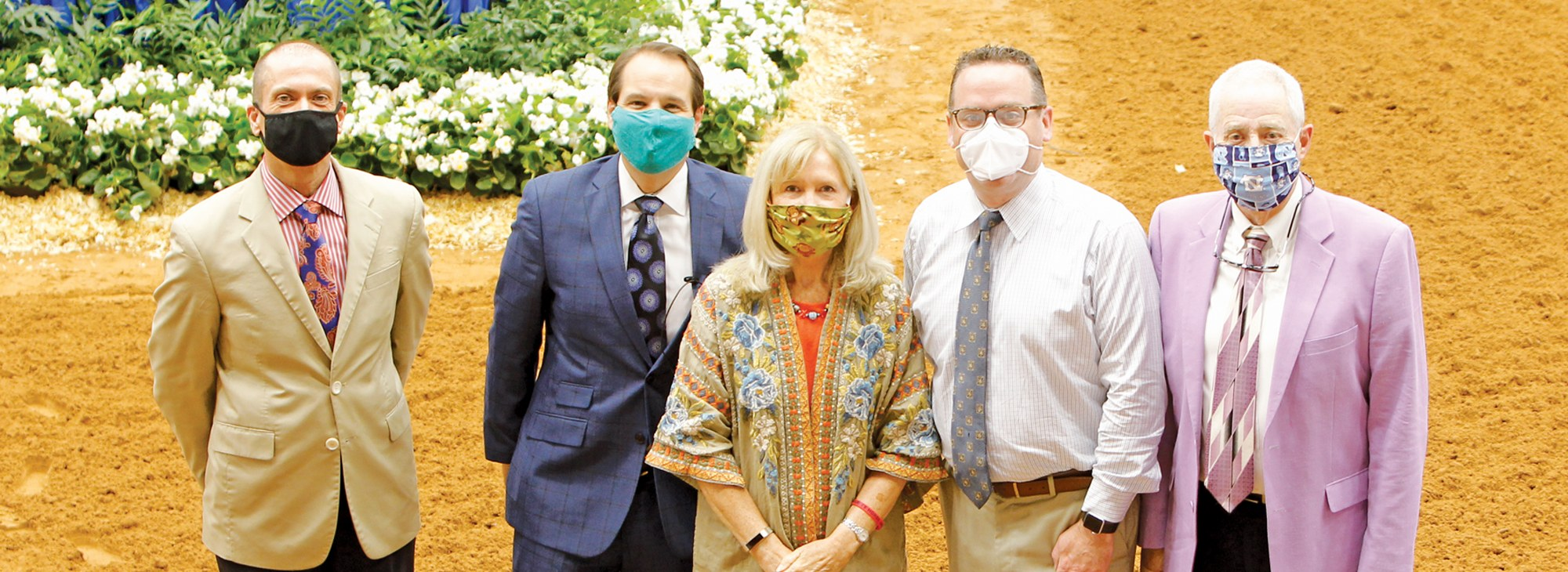 Showofficials with their masks on