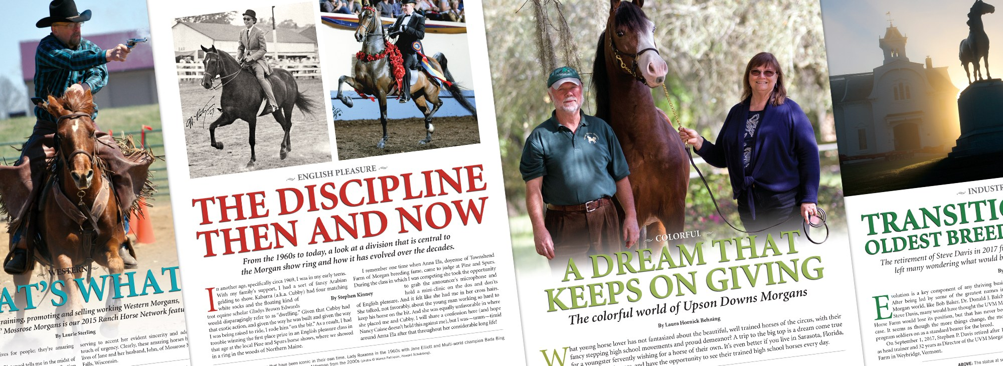 Sample o f Articles from The Morgan Horse Magazine