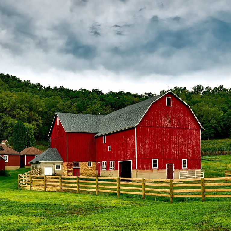 Red Barn and Landscape