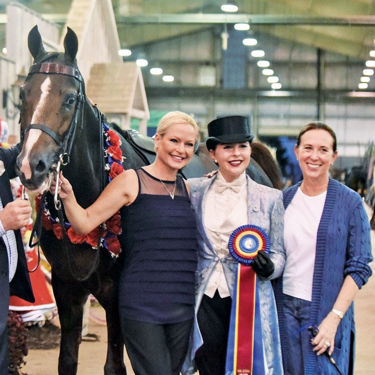 Trainers and clients and their Morgan horse